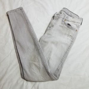 7 For All Mankind The Skinny Jeans Gray Size 27